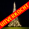 Fairybell kerstboom 480 Led warnwit Twinkel + 3M mast