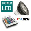 Ledlamp rgb 3 watt incl. Ab