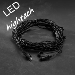 LED Kerstverlichting koppelbaar 10m Verlengsnoer 31V