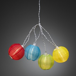 Kerstverlichting LED lichtsnoer 40x lampion