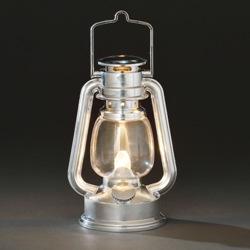 Zilveren stormlantaarn LED op batterijen