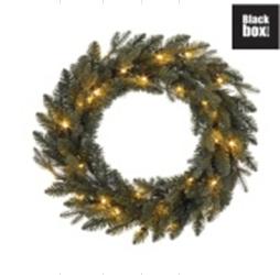 Kerstkrans  met 20 stuks Ledlampjes op batterijen
