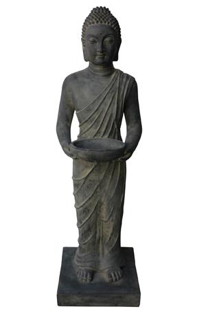 Boeddhabeeld staand met bakje