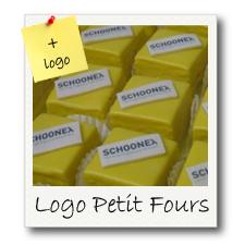 petit Fours met logo