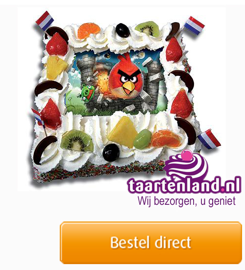 Angry Birds taart