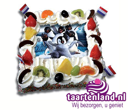 Happy Feet taart