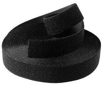 Klittenband 20 mm Zwart per 5 mtr.