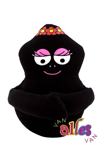Mini knuffel Barbamama 10cm - zwart