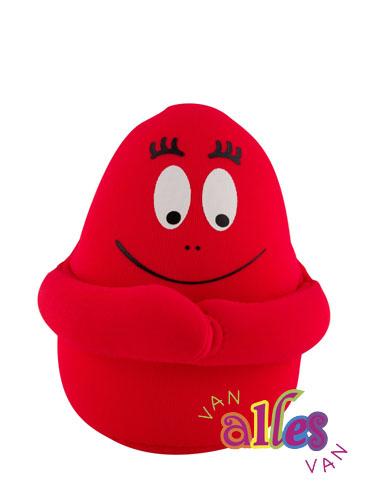 Mini knuffel Barbaborre 10cm - rood
