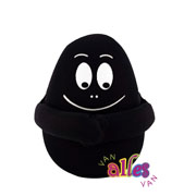 Mini knuffel Barbabob 10cm - zwart