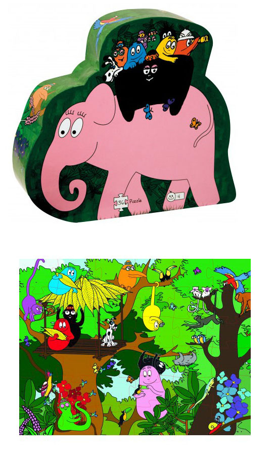 Barbapapa safari puzzel