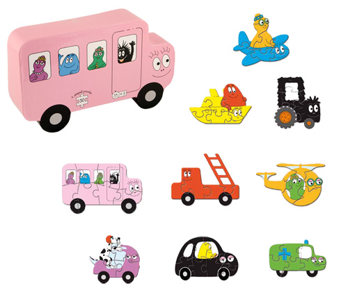 Barbapapa transport puzzels