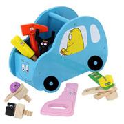 Barbapapa gereedschap auto (blauw)
