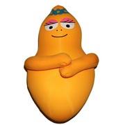 Barbabientje knuffelkussen 30cm oranje