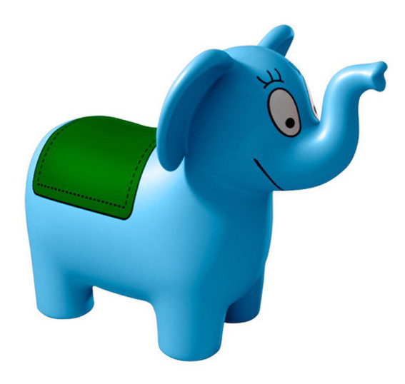 Barbapapa skippybal springolifant - blauw