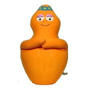 Barbabientje knuffelkussen 45cm oranje