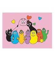 Postkaart Barbapapa familie roze