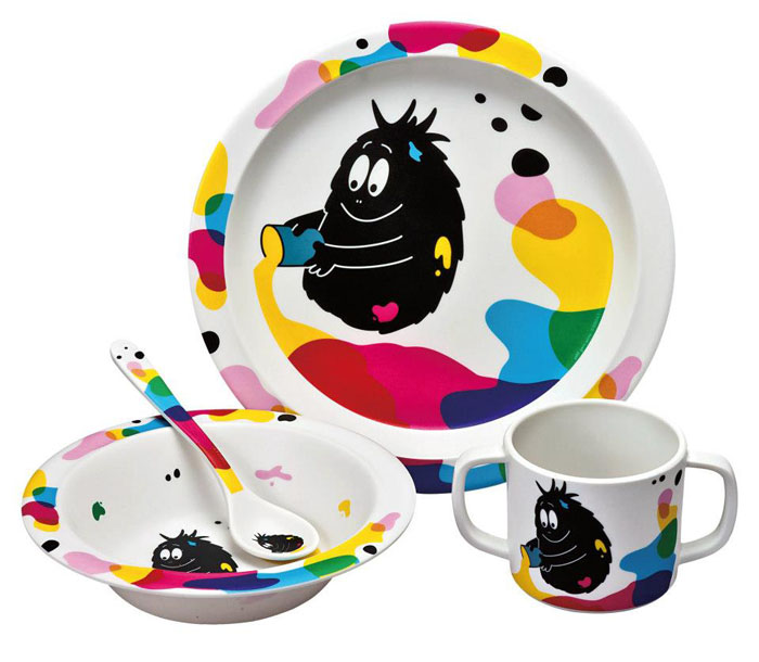 Barbapapa servies Barbabob melamine