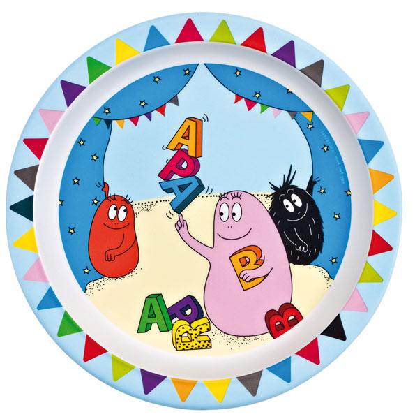 Barbapapa bord kunststof letters alfabet circus