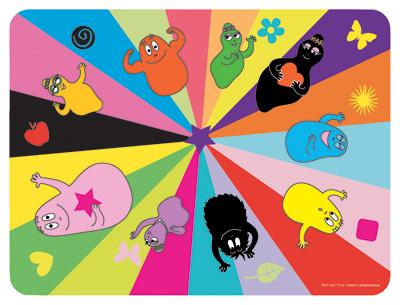 Barbapapa placemat kleuren