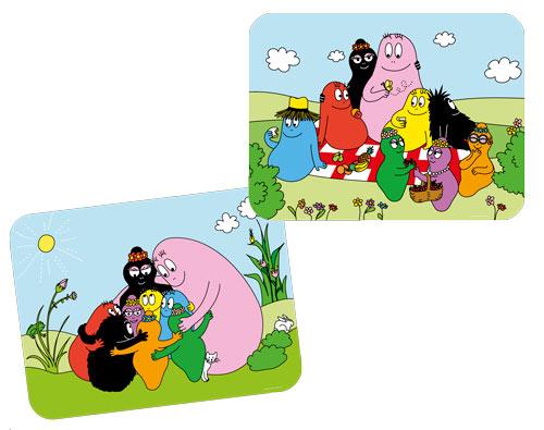 Barbapapa placemat picknick groepsknuffel (set van 2)