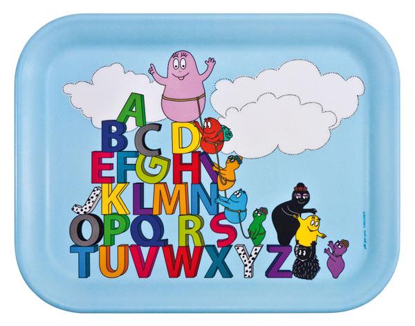Barbapapa dienblad letters alfabet