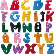Het Barbapapa speelgoed alfabet