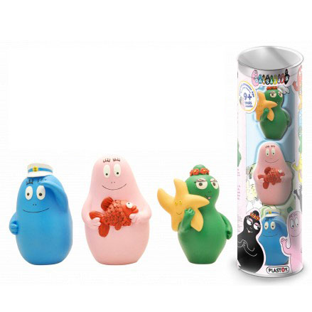 Barbapapa badset tube met 3 figuren