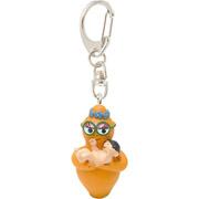 Barbabientje sleutelhanger baby oranje