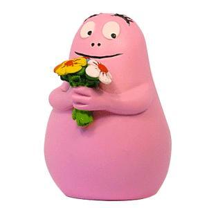 Barbapapa met bloemen poppetje