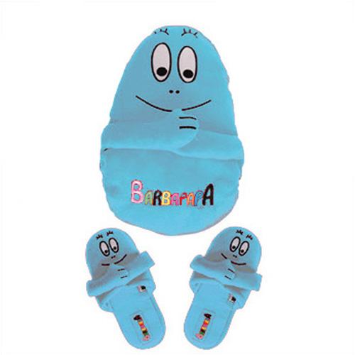 Kinderpantoffels met opbergzak - blauw - L (28-31)