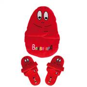 Kinderpantoffels met opbergzak - rood - XS (20-22)