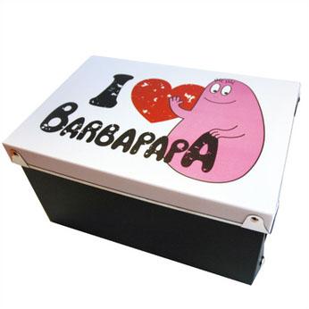 Kunststof opbergdoos - I love Barbapapa