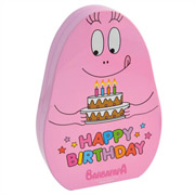 Blik - Barbapapa - roze - happy birthday