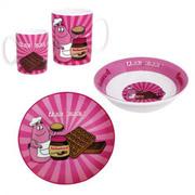 Barbapapa servies wafels met chocola keramiek