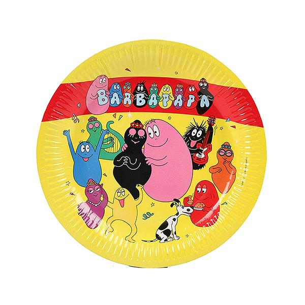 Barbapapa feest bordjes