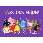 Postkaart Barbapapa feest Lass uns feiern (DE)