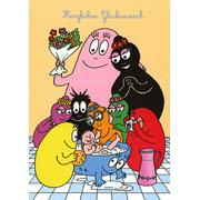 Postkaart Barbapapa Herzlichen Glückwunsch (DE)