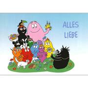 Postkaart Barbapapa familie Alles liebe (DE)