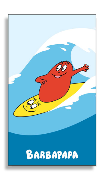 Barbapapa strandlaken Barbaborre surf