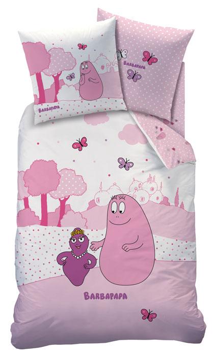 Barbapapa dekbedovertrek Pink World