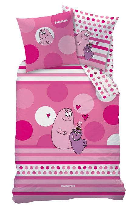 Barbapapa dekbedovertrek Tendresse paars/roze