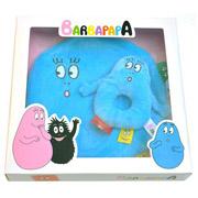 Cadeau geboorte baby Barbapapa knuffeldoek + rammelaar blauw