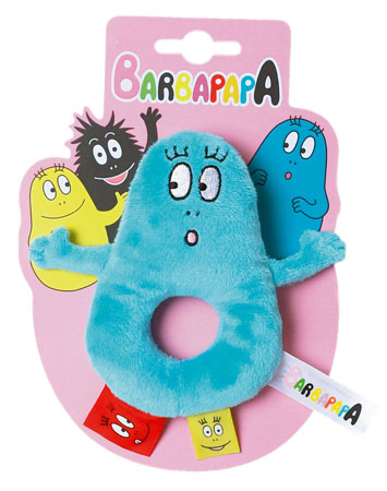 Barbapapa rammelaar ring blauw