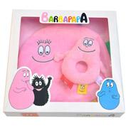 Cadeau geboorte baby Barbapapa knuffeldoek + rammelaar roze
