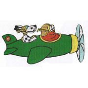 Barbapapa strijkapplicatie Barbaborre vliegtuig