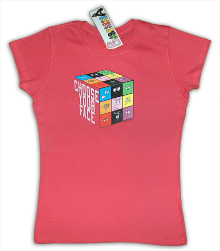T-shirt dames Barbapapa Kubus, framboos, maat S