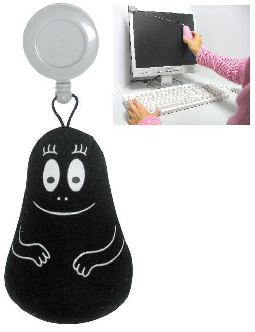 Barbabob LCD / tablet poetser (zwart)