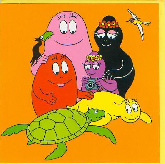 Wenskaart Barbapapa schildpad oranje