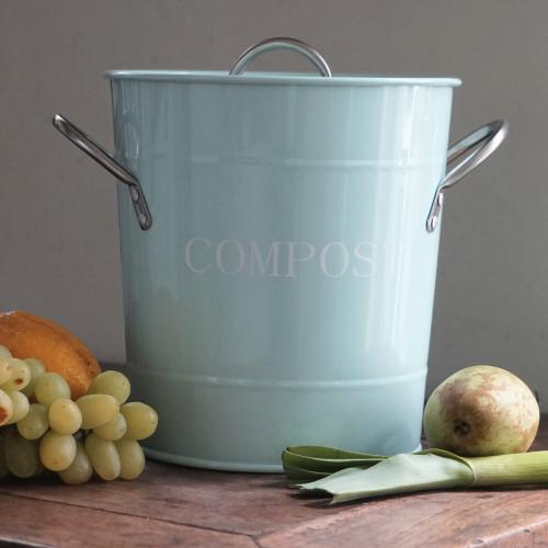 Retro Compostemmer Pastelblauw